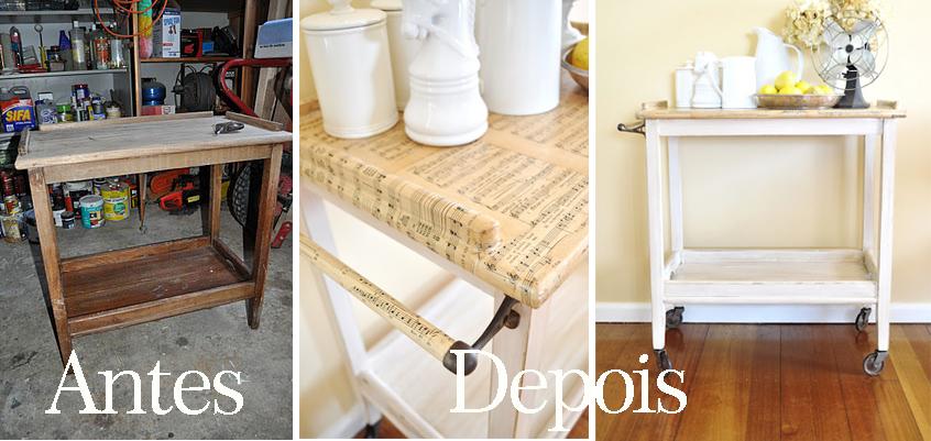 decoracao cozinha diy:Carrinho para Chá ou Cozinha – Dicas de decoração (DIY)