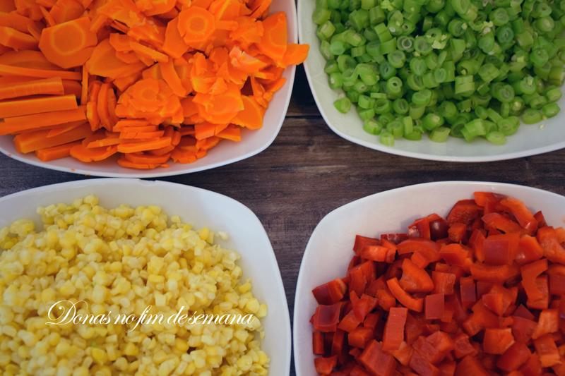 Legumes já branqueados