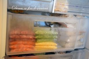 Depois de congelados você pode armazenar da forma que preferir :D